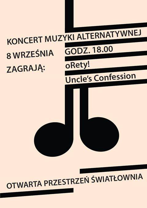 Plakat koncert muzyki alternatywnej 8 września 2018