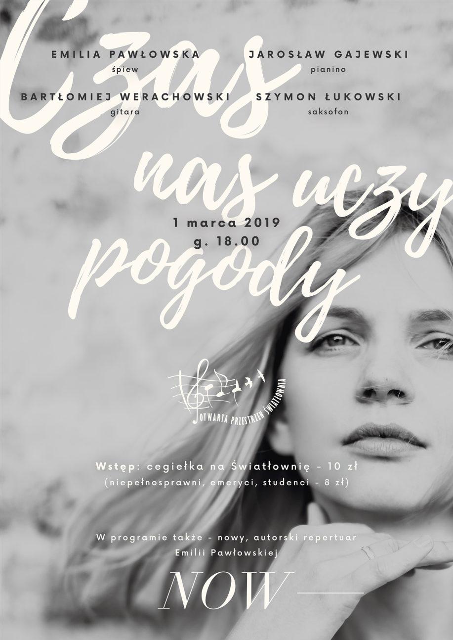 Plakat koncertu Emilii Pawłowskiej z zespołem