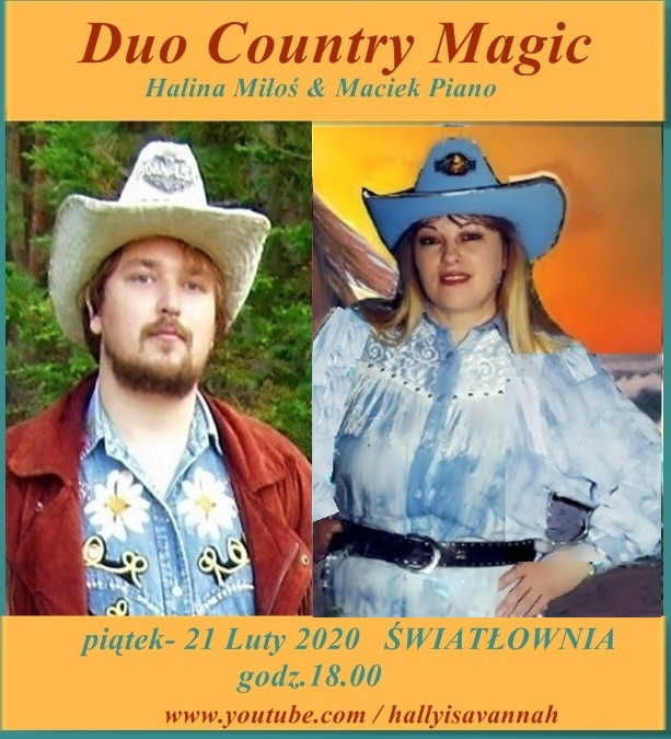 Kobieta i mężczyzna w kapeluszach kowbojskich