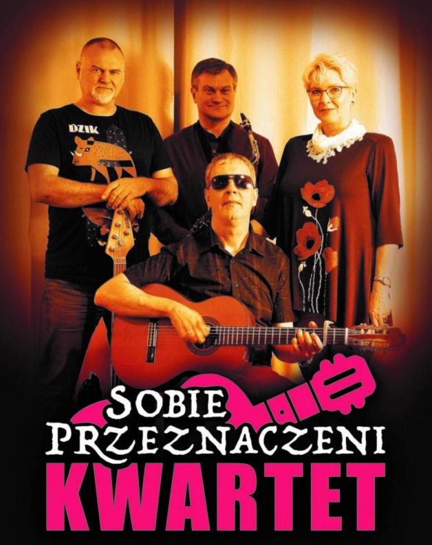 Kwartet Sobie Przeznaczeni trzech muzyków i jedna kobieta