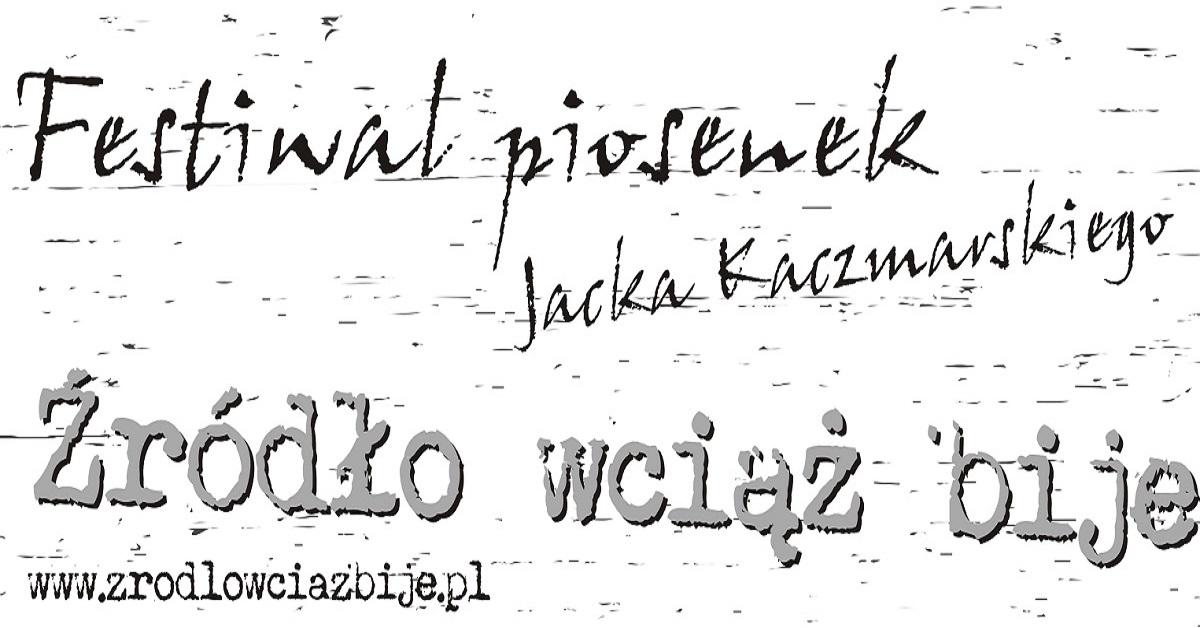 napis XVI Festiwal piosenek Jacka Kaczmarskiego