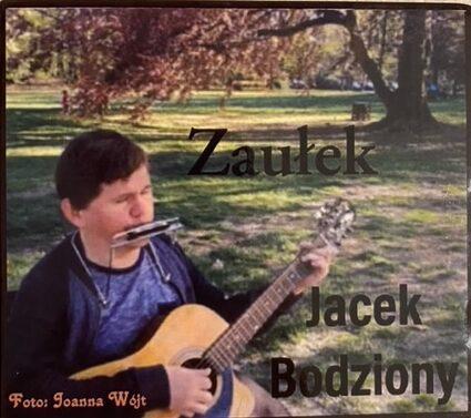 mężczyzna gra na gitarze i harmonijce